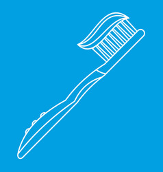 Teeth cleaning symbol icon outline style vector