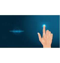touch the future realistic hand vector image