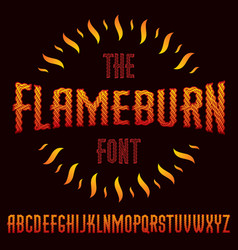 Typescript made with hot flaming design vector