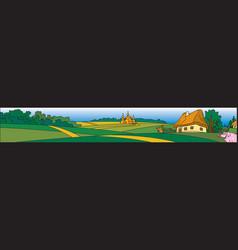 ukrainian village vector image