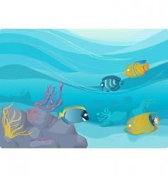 Underwater illustration vector