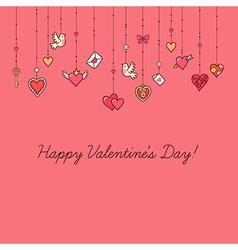 valentine card decoration vector image