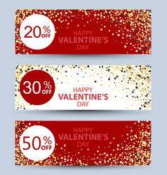 valentines day collection sale banners vector image