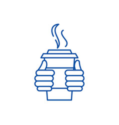 warm drink line icon concept warm drink flat vector image