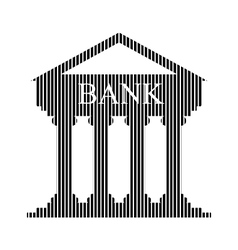 Bank sign on white vector image vector image