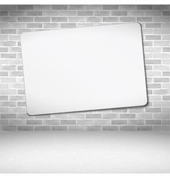 Banner on Brick Wall vector image vector image
