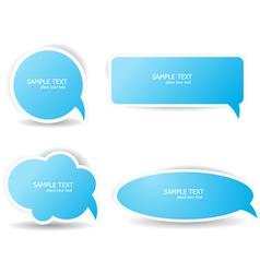 blue speech bubbles vector image vector image