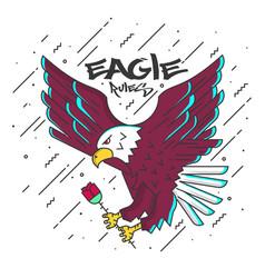 flat designed eagle vector image