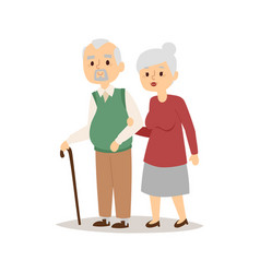 senior happy couple cartoon relationship vector image