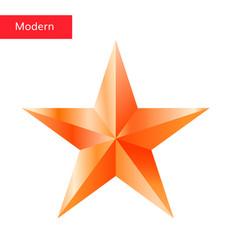 bronze star 3d icon vector image vector image