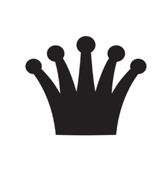 Crown black and white logo royal symbol vector image vector image