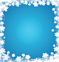 grunge snowflake border 3110 vector image vector image