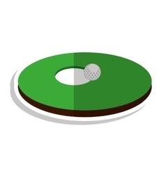 Hole golf sport icon vector