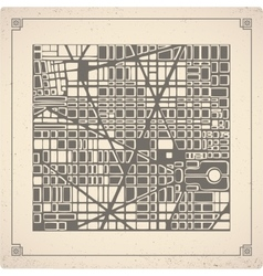 Map city plan vector