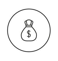 money bag with dollar icon vector image vector image