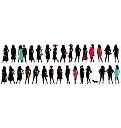Women fashion silhouette vector image