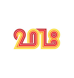 2018 new year card or poster template vector image