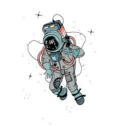astronaut in spacesuit cosmonaut in space on the vector image vector image