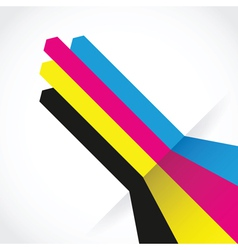 cmyk arrow lines vector image vector image