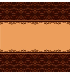 Ornamental background with decorative pattern vector image