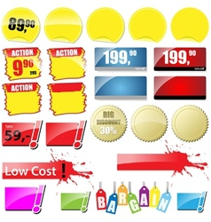 Retail Sales Tags vector image