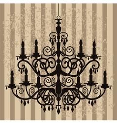 vintage chandelier vector image vector image