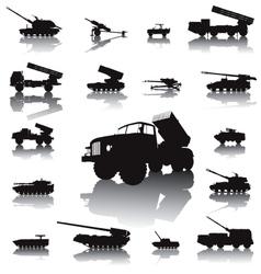 Artillery set vector image