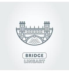 bridge and river symbol vector image