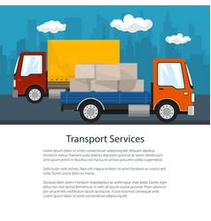 Brochure of road transport and logistics vector