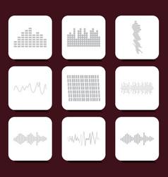 color logo equalizer icons set vector image