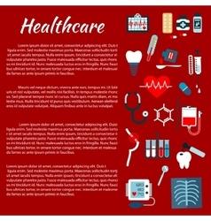 Healthcare medical infographic leaflet vector image