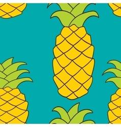 Seamless pattern pineapple vector image