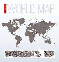 Stippled world map vector image