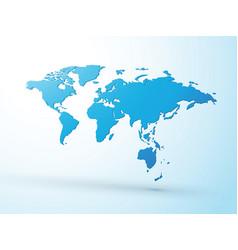 3d blue world map vector image