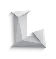 3d letter L on white vector image