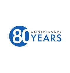 80 years logo concept vector