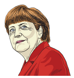 Angela merkel caricature vector