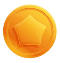 Badge token icon cartoon style vector