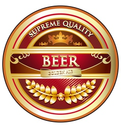 Beer Label Vintage Design vector image