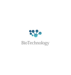 bio technology abstract logo vector image