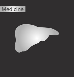 Black and white style icon of liver vector