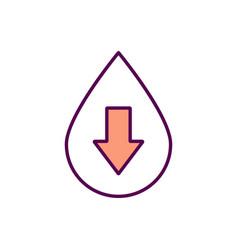 Blood donation rgb color icon vector