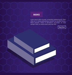 books school isometric icons vector image