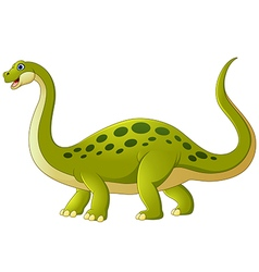 Cartoon adorable dinosaur vector