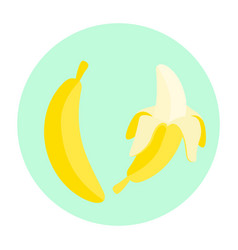 Cartoon banana fruit vector