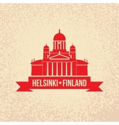 Cathedral the symbol Of Helsinki Finland Simple vector