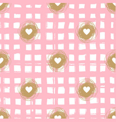 checkered seamless pattern valentine vector image