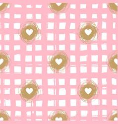 Checkered seamless pattern valentine vector