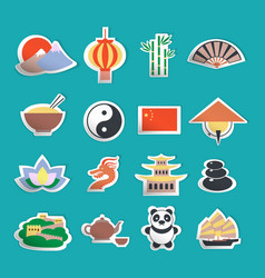 China icons stickers vector image