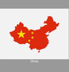 China map flag vector
